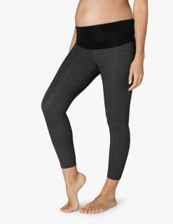 Beyond Yoga Maternity yoga leggings capris heather grey