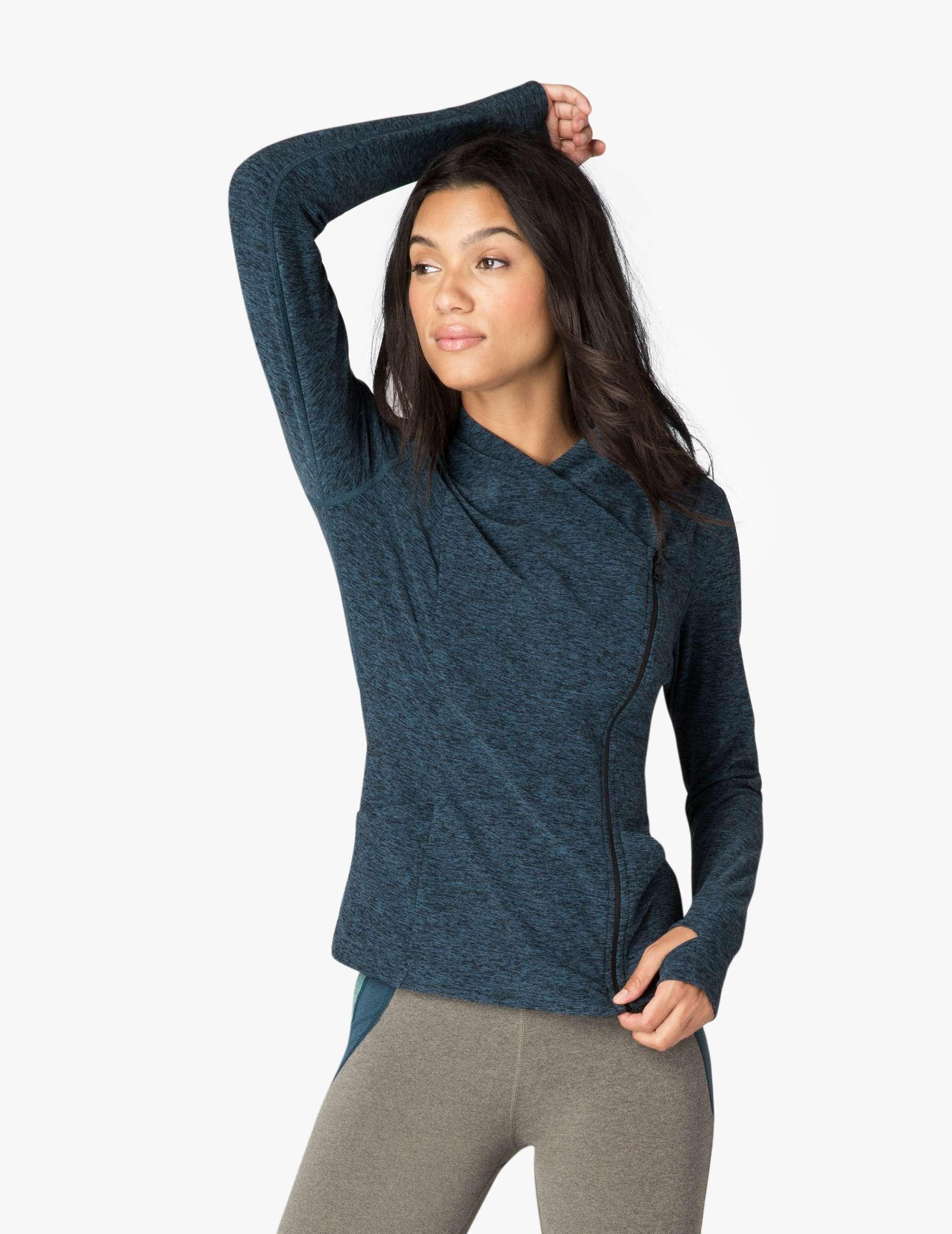 Beyond Yoga daytripping jacket - deep sapphire blue