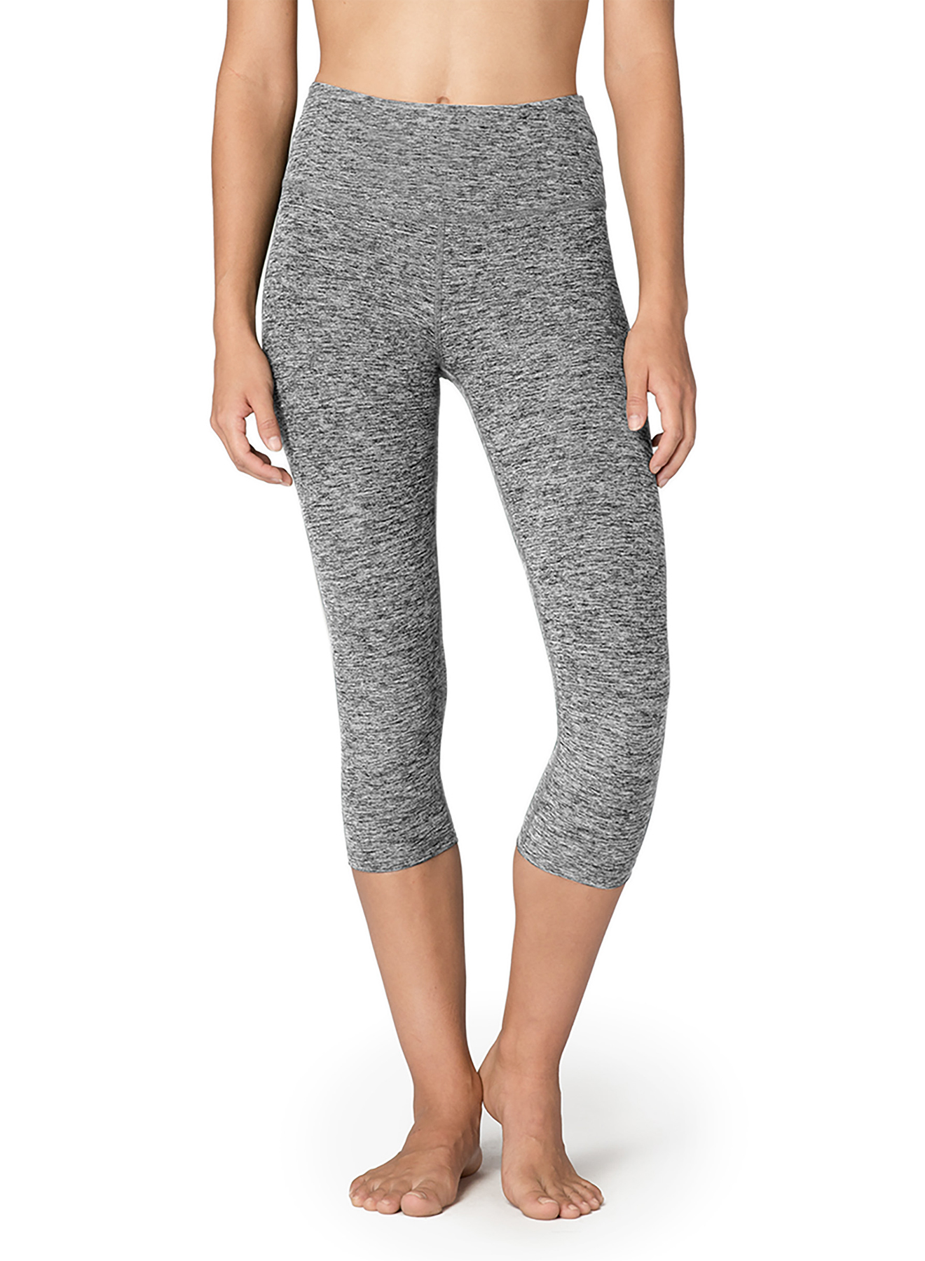 Beyond Yoga Spacedye capris yoga leggings black white