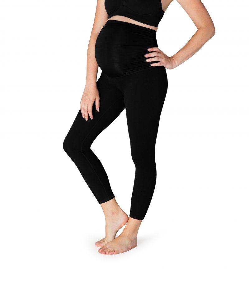 beyond yoga fold down maternity yoga leggings jet black