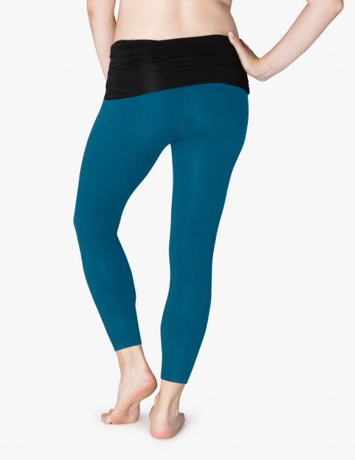 Beyond Yoga Maternity pregnancy clothes sportswear deep sapphire blue