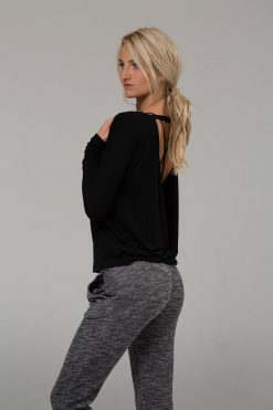 onzie drapey v back yoga top