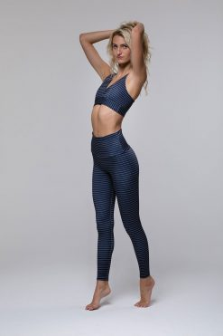 Onzie high rise basic midi yoga leggings stripe lifestyle