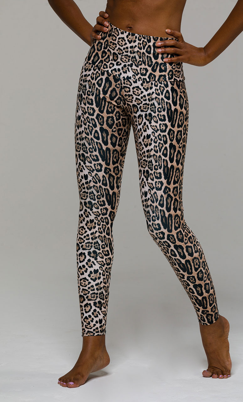 99e5a4fa951c Onzie HIGH RISE Full Length Yoga Leggings – Leopard | Yoga Emporium