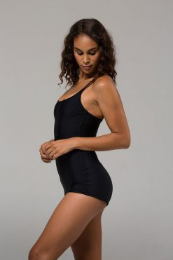 Onzie Black shortie leotard for dancing and yoga