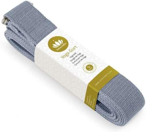 Lotuscrafts Organic yoga strap cornflower blue