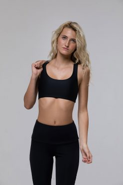 Onzie Mudra yoga bra top black at yoga emporium
