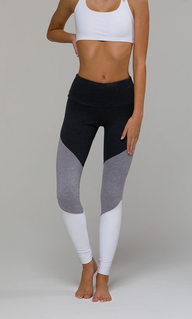 Onzie Track Yoga Leggings - Slate Grey pants activewear