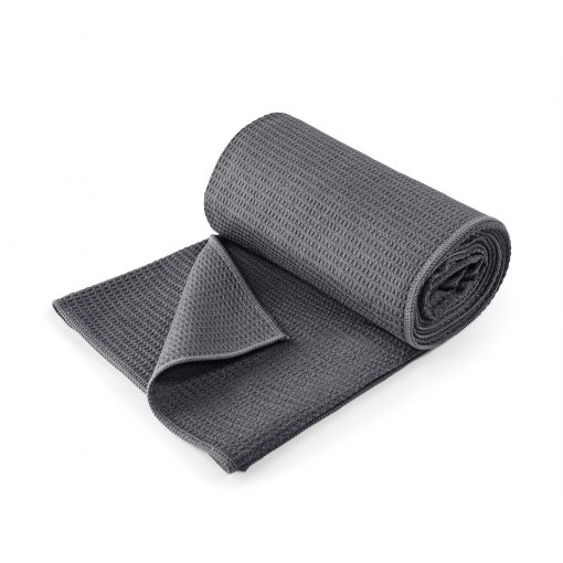 Lotuscrafts non slip hot vinyasa hot yoga towel anthracite black retail