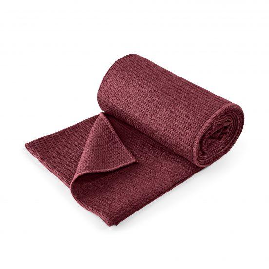 Lotuscrafts non slip hot vinyasa hot yoga towel bordeaux