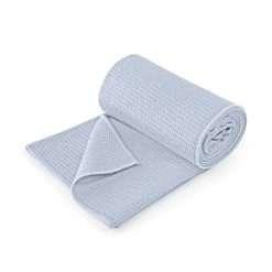 lotuscrafts hot yoga towel pastel blue