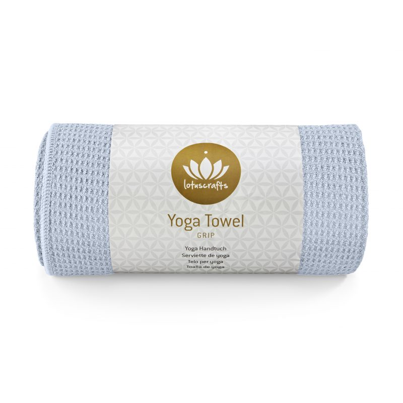 lotuscrafts hot yoga towel pastel blue