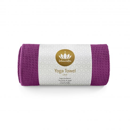 Lotuscrafts non slip hot vinyasa hot yoga towel violet retail