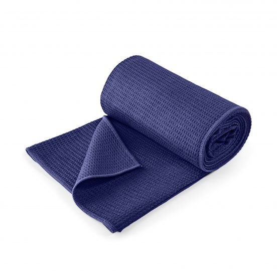 Lotuscrafts non slip hot vinyasa hot yoga towel royal blue retail
