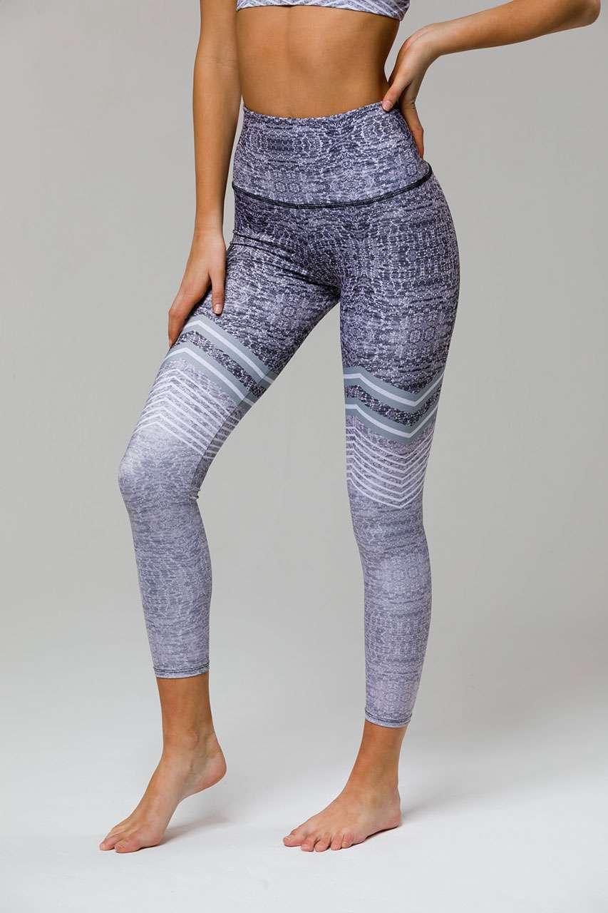 3aa23a811d Onzie HIGH RISE Graphic Midi 7/8 Yoga Leggings – Chevron | Yoga Emporium