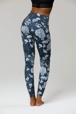 Onzie HIGH RISE Full Length Yoga Leggings - Kyoto Noir