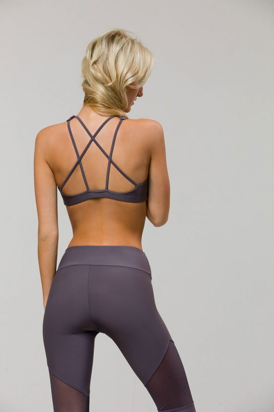 Onzie Mudra Yoga Bra Top - Graphite