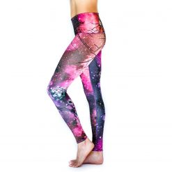 Spirit Girl full length yoga leggings lion pride colourful activewear