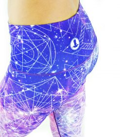 Spirit Girl full length yoga leggings space cowgirl purple