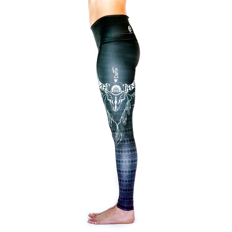 4c2373016f9642 Spirit Girl full length yoga leggings Spirit colourful activewear