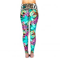 Spirit Girl full length yoga leggings tropical bliss colourful activewear