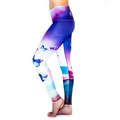 Spirit Girl full length yoga leggings graceful deer colourful activewear
