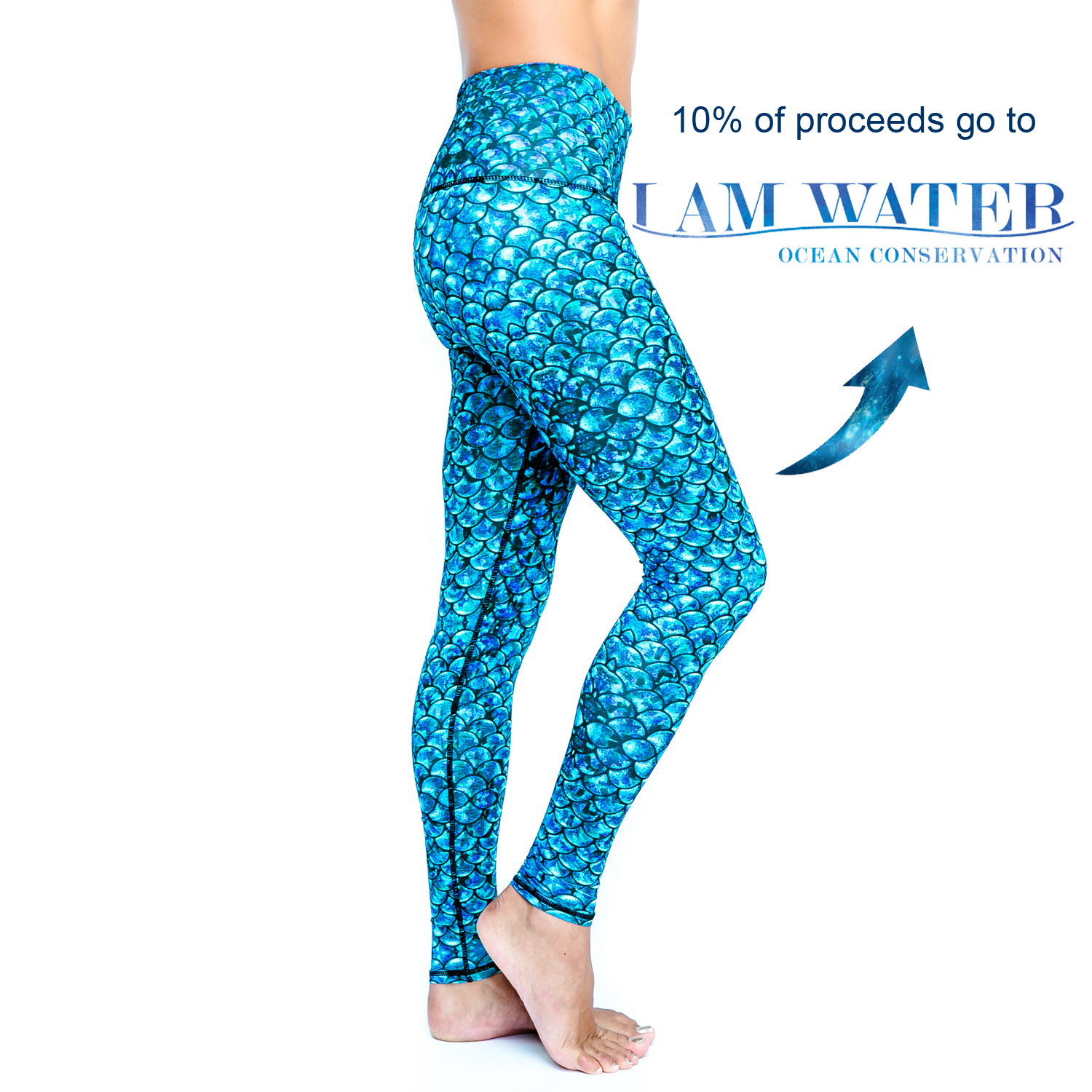Spirit Girl Full Length Yoga Leggings I Am Water Yoga