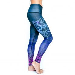 Spirit Girl full length yoga leggings navajo wolf colourful activewear