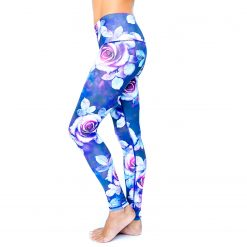 Spirit Girl full length yoga leggings flower power