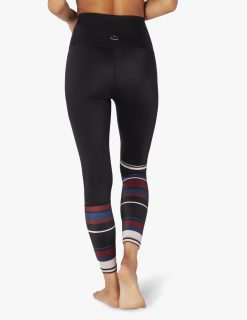 Beyond Yoga Black Fallen Stripe Leggings High Quality Activewear