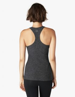Beyond Yoga Travel Lightweight Racer Back Tank Top Black Charcoal