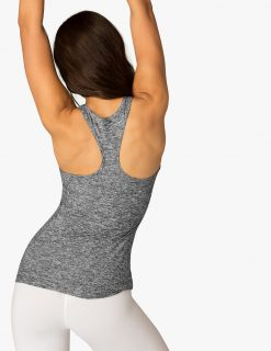 Beyond Yoga Travel Lightweight Racer Back Tank Top Black White