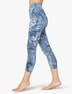 Beyond yoga leggings smoke show smokeshow capri capris blue patterned