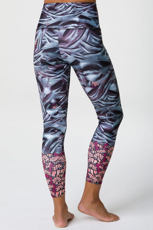 Onzie patterned yoga leggings full length mother nature