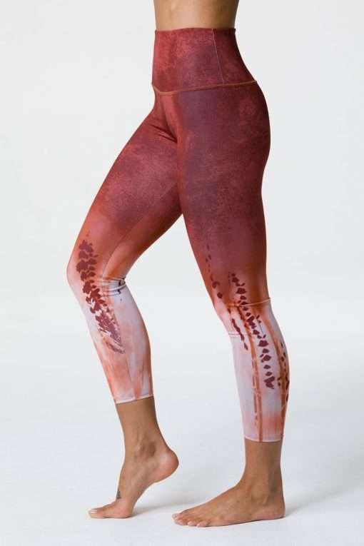 Onzie Yoga leggings cropped copper tie dye