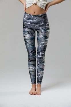 Onzie high rise full length legging marble camo print yoga