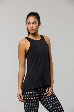 Onzie Tie back yoga top black