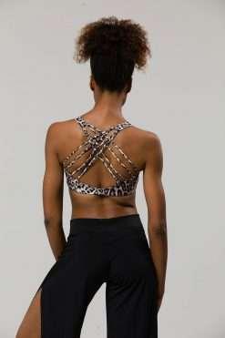 Onzie Bra Top Yoga Chic Leopard print