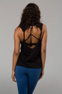 Onzie twist back top black yoga