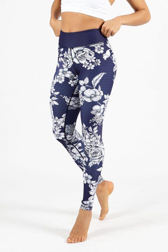 Dharma bums english garden high waist cropped legging yoga