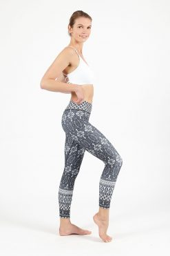 dharma bums marrakesh cropped high waist legging yoga