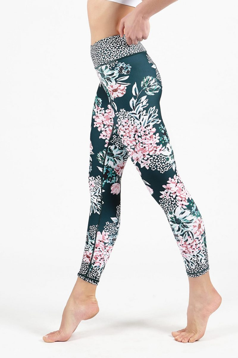 Dharma bums crafted botanicals high waist cropped legging yoga