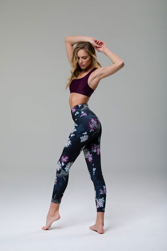 onzie high rise basic midi cropped yoga leggings crane