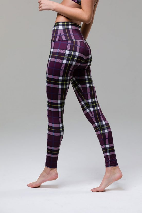 onzie full length yoga high waist leggings plaid