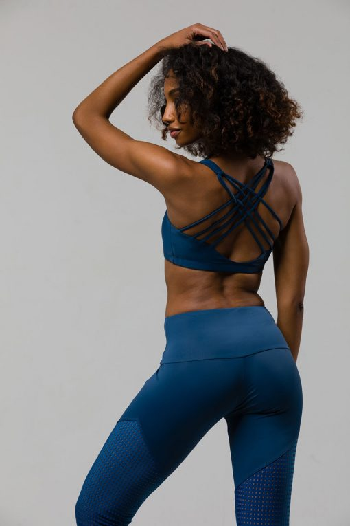 onzie chic yoga bra pebble blue