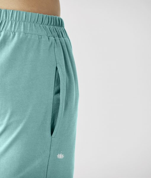 lotuscrafts mens yoga short sea green