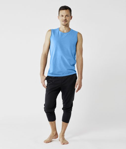 lotuscraft yoga tank top mens blue
