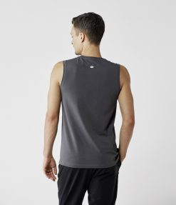 lotuscraft yoga tank top mens graphite grey