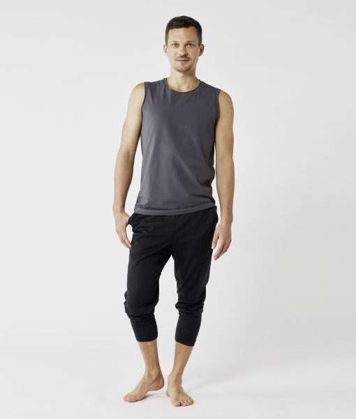 lotuscraft yoga tank top mens graphite grey