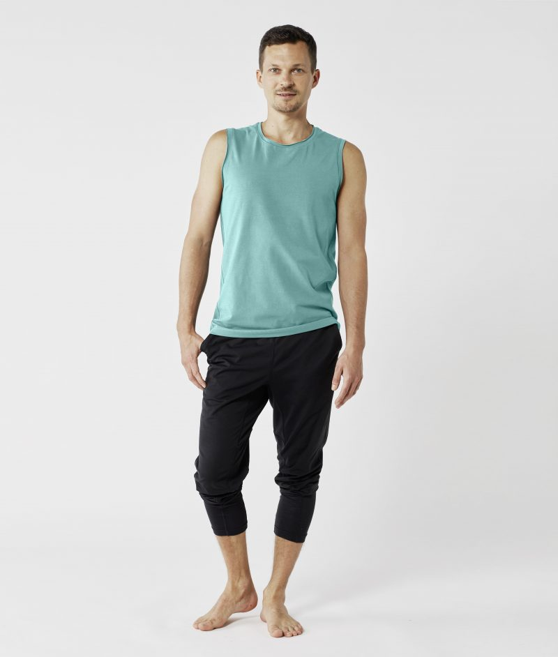 lotuscraft yoga tank top mens sea green